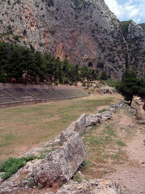 The Stadium, originally built by the Greeks, but renovated substantially in the 2d century by the Romans, Delphi
