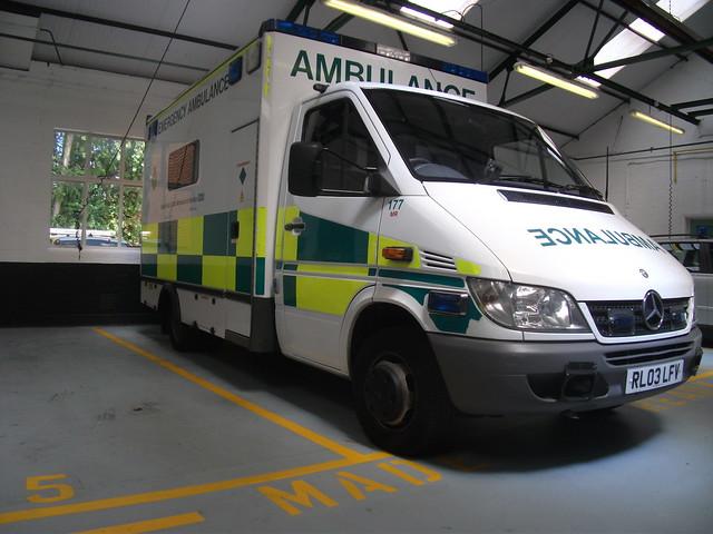 Rl03lfv Mrc177 South East Coast Ambulance Service Mercedes