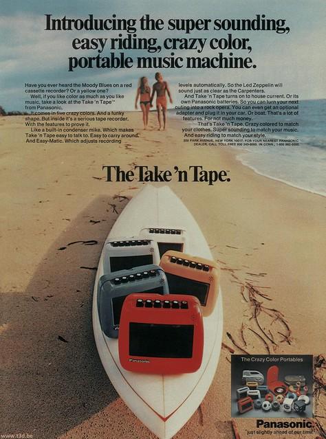 Panasonic Take N Tape June 73 Ad