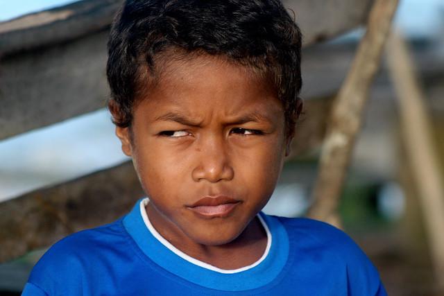 Portrait of a boy in West Papua.
