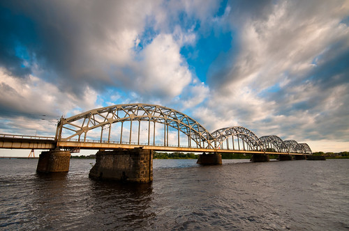 bridge river railway latvia riga daugava tilts dzelzceļa