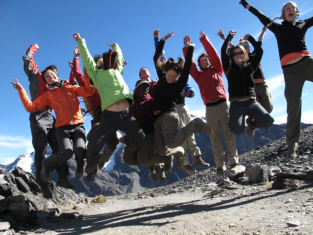 Students Jumping in Bolivia by Where There Be Dragons on Flickr