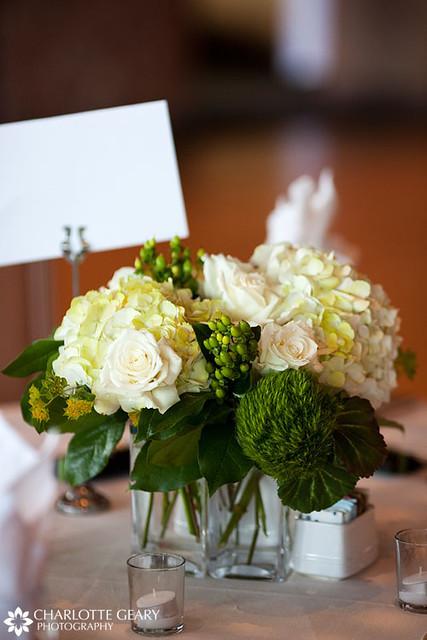 White and green wedding centerpiece flickr photo sharing