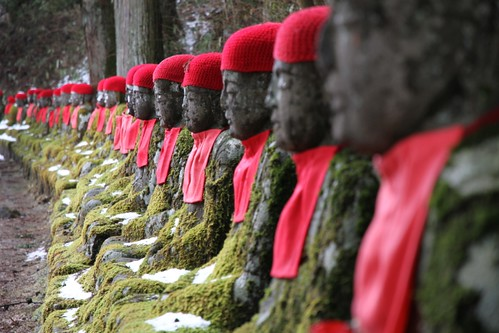 A sitting Jizo gathers much moss! by Marquisde