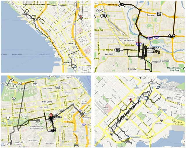 GPS Maps  Seattle Eugene San Francisco And Vancouver BC