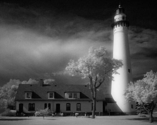 lighthouse church wisconsin flickr lakemichigan greatlakes infrared handheld hoyar72 alienskinexposure2 olympusmzuikodigital17mmf28 olympuspenepl1micro43micro43
