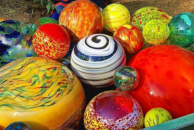 Chihuly Ball Tub - Desert Botanical Garden