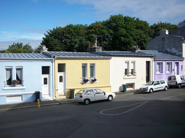 maisons de ville quartier de l harteloire centre ville brest flickr photo