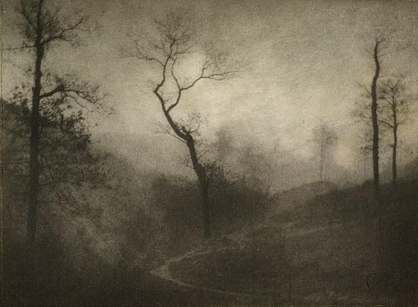 Crepuscule d'Hiver, by Gustave Marissiaux 1908
