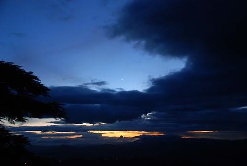 sunset ner aizawl mizoram chaltlang touristlodge gloomysunset eveofdeparture postedshg