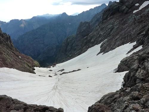 Versant Falasorma: ravin de Laoscella et de Tondu avec le Monte Saltare en bas
