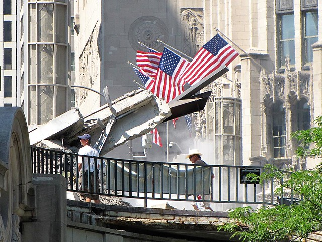 Wrigley Building Wreckage on Transformers 3 Set
