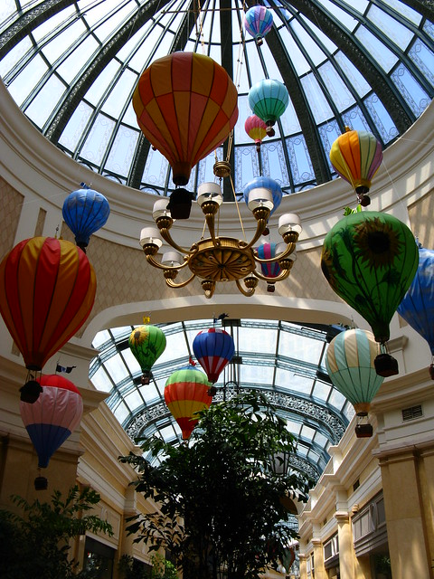 Hot Air Balloon Decorations, Shops at Bellagio Las Vegas