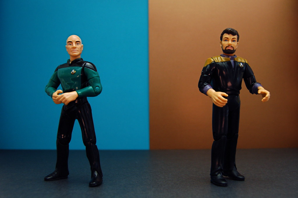 Lieutenant Jean-Luc Picard vs. Lieutenant Thomas Riker (202/365)