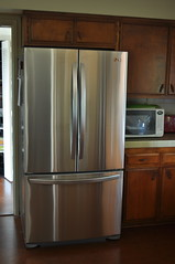 kitchen appliance, kitchen, room, cupboard, refrigerator, cabinetry, major appliance,