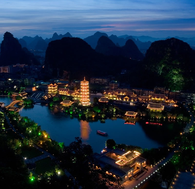 guilin night view 桂林夜景
