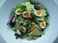 meal, spinach salad, salad, vegetable, food, dish, cuisine, caesar salad,