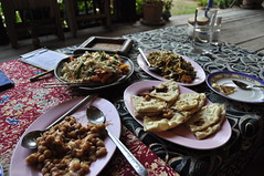 Burmese food at Borderline Shop in Mae Sot