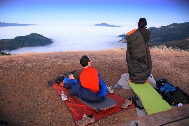 Bald Mountain sunrise viewers at Sugarloaf State Park, California