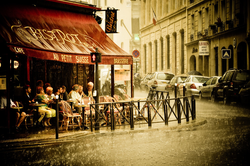 Paris Bistrot in the Rain