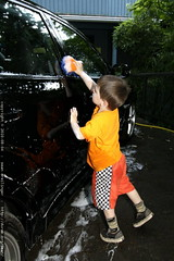 sequoia washing his mom's car
