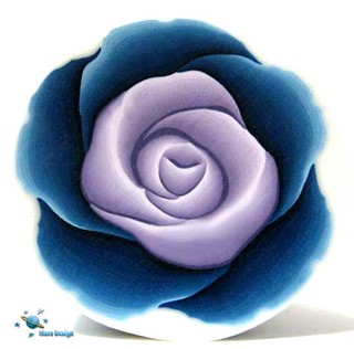 Purple blue rose cane