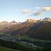 Sonnenuntergang im August in Niederdorf, Hochpustertal / Tramonto a Villabassa in Alta Pusteria