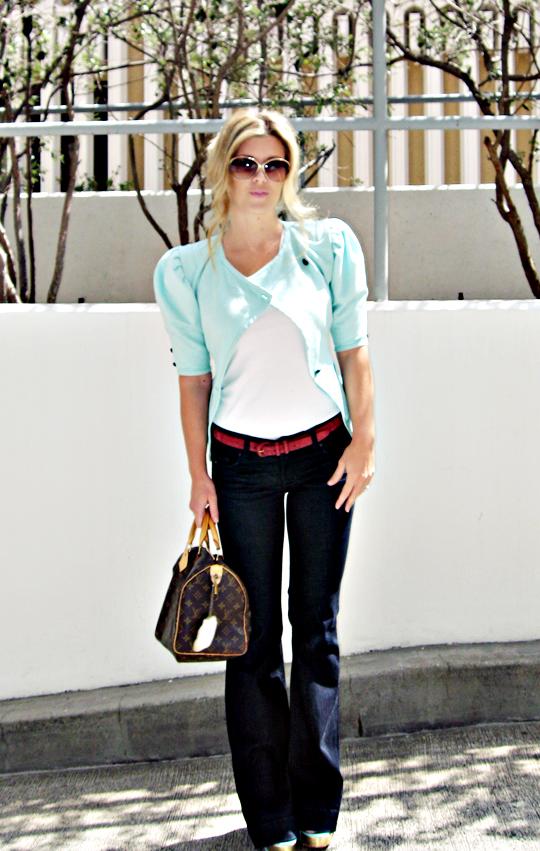 maegan+outfit+louis vuitton speedy+j brand bell bottoms+vintage ungaro jacket+velvet angels shoes -sharp