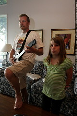 friendly father vs daughter round of guitar hero