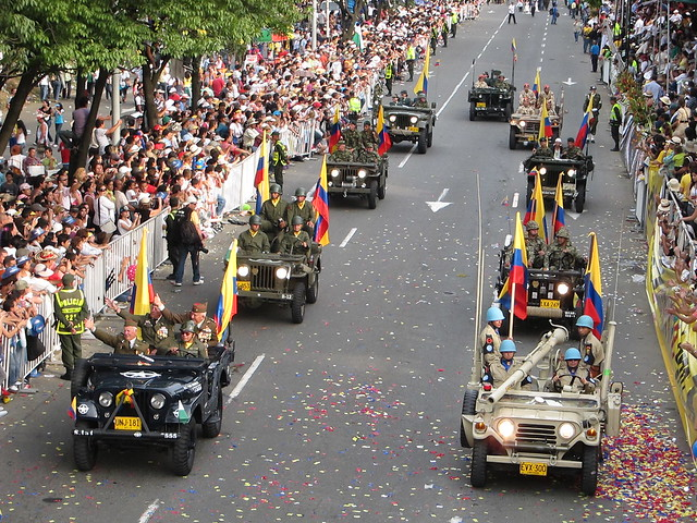 Colombian army jeeps.