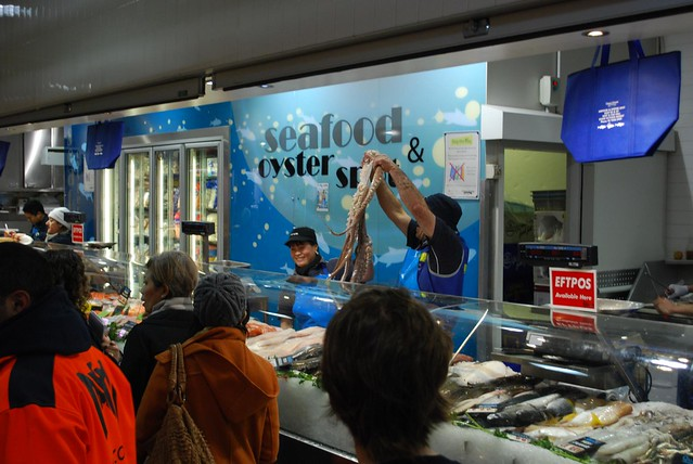 Seafood and oyster spot queen victoria market flickr for Fish market queens