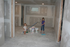 working on basement