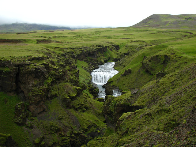 Catarata de Skógafoss. Río Skógar, Islandia