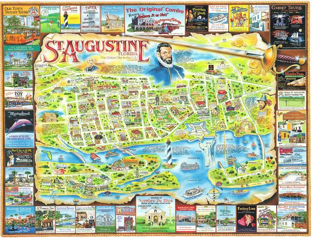 St Augustine Florida Map.Historic St Augustine Old City Map Bellissimonyc Com
