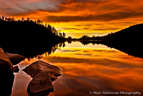 sunset arizona lake water reflections landscape prescott goldwater prescottarizona matthalvorson