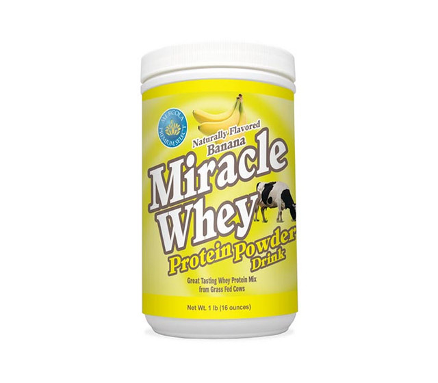 Flavored whey protein powder