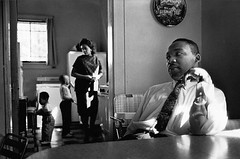 Martin Luther King at home, by James Karales