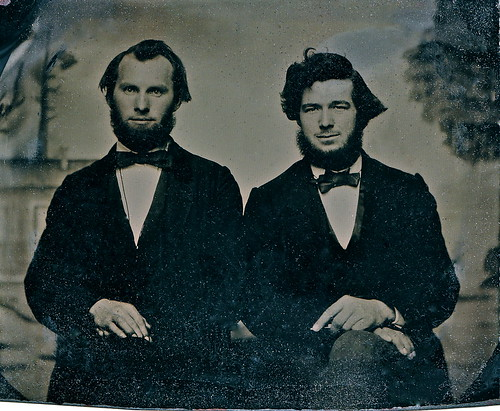 1/6th-Plate Cased Tintype of  Kind and Handsome Brothers, Circa 1860