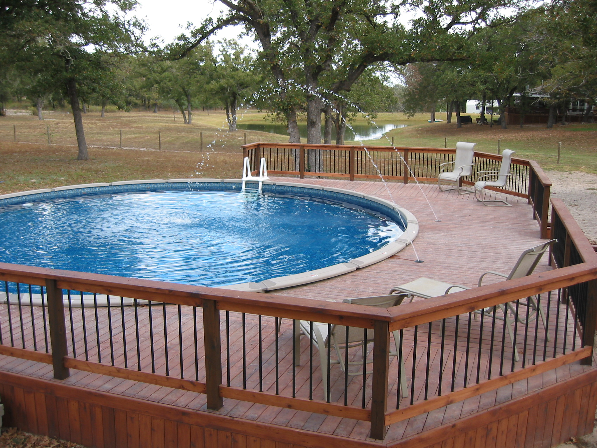 Above Ground Pool Deck Jets And Dark Blue Liner Lavernia Tx Flickr Photo Sharing
