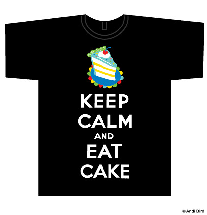 Keep Calm and Eat Cake t shirt