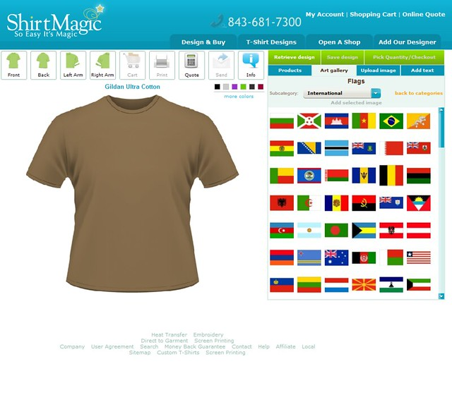 Custom t shirt design software and application tool by for Programs to design t shirts