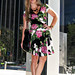 betsey johnson rose dress+pour la victoire wedges+ferragamo bag+tom ford anouk sunglasses+1