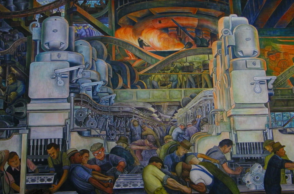Detroit industry flickr photo sharing for Diego rivera detroit mural