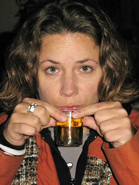 Me and a tiny beer - Lijiang, China