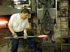 forge, iron, metalworking, person, blacksmith,