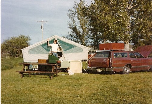 Camping with the station wagon!