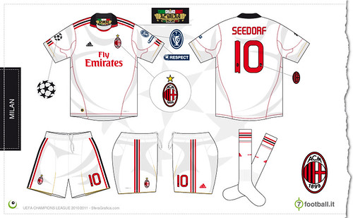 Milan Champions League away kit 2010/2011