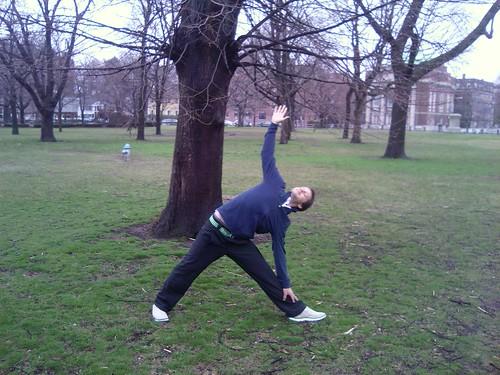 Utthita Trikonasana - Triangle Pose in Harvard