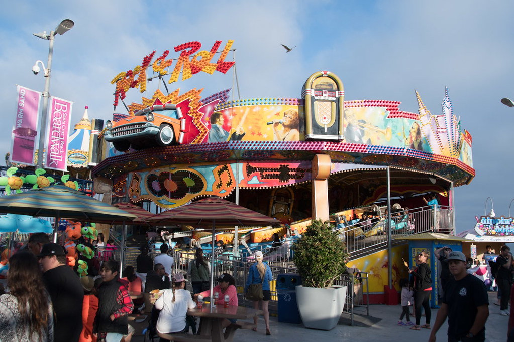 Rides at the Santa Cruz Boardwalk