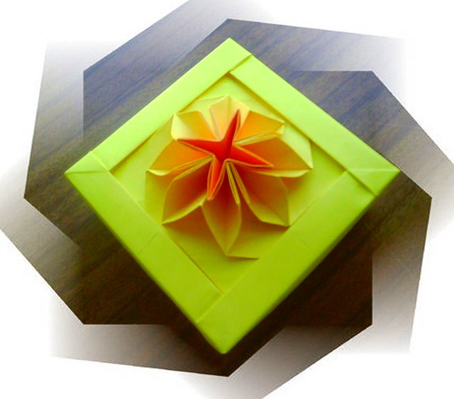 new origami flower box flickr photo sharing